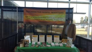 Booth with Rev. Stetler