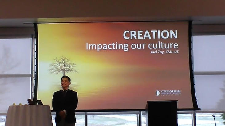 Joel Tay was the Speaker from Creation Ministries Internation